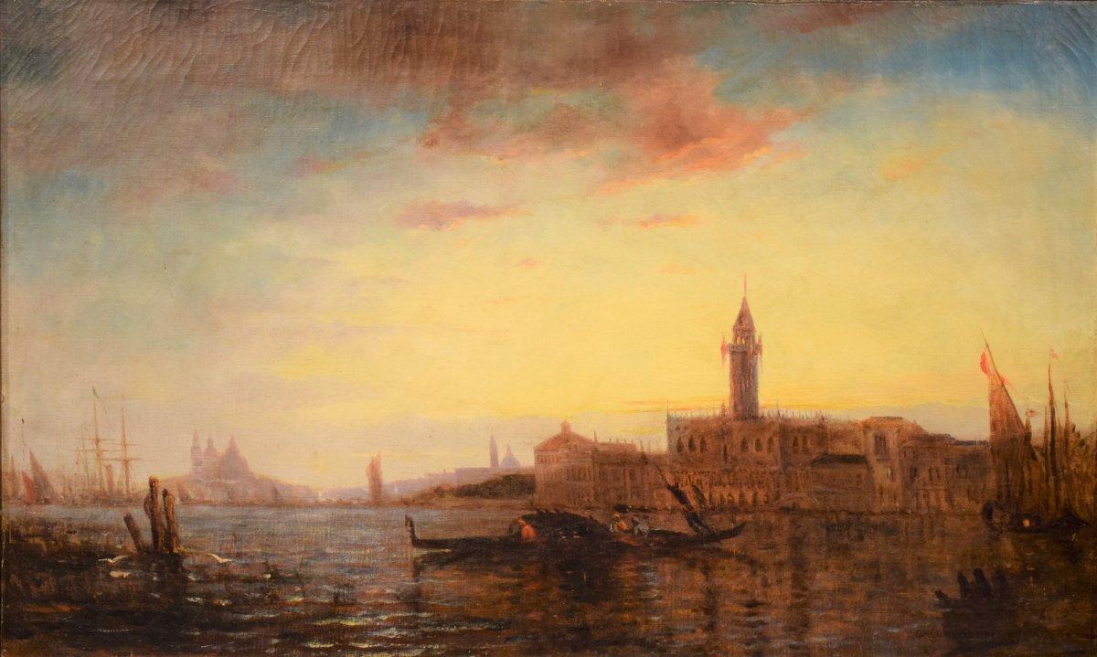Venice, Sunset Over The Lagoon