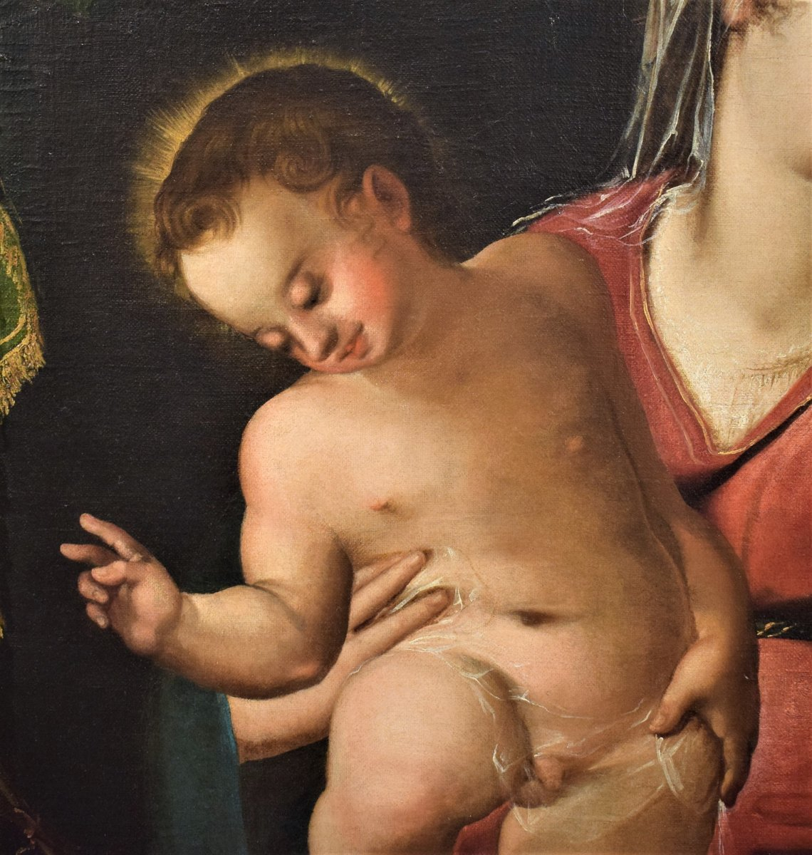 Virgin And Child And The Little Saint John The Baptist, End 16th Century-photo-1