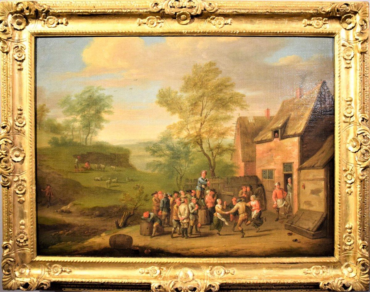 « Fête au Village » école flamand , fin du XVIIème siècle