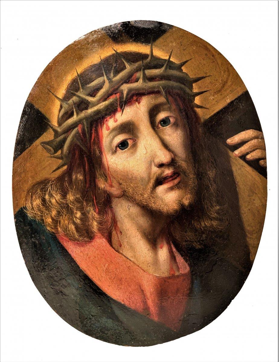 """""""Christ portant la Croix""""  Michael Coxie (Malines1499-1592)"""