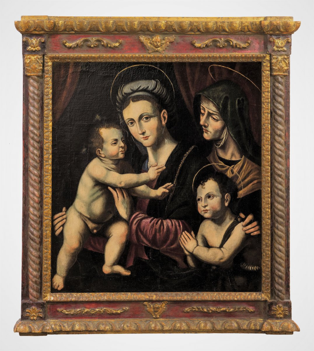 Madonna And Child, St. John The Baptist And St. Anne - Italian Renaissance