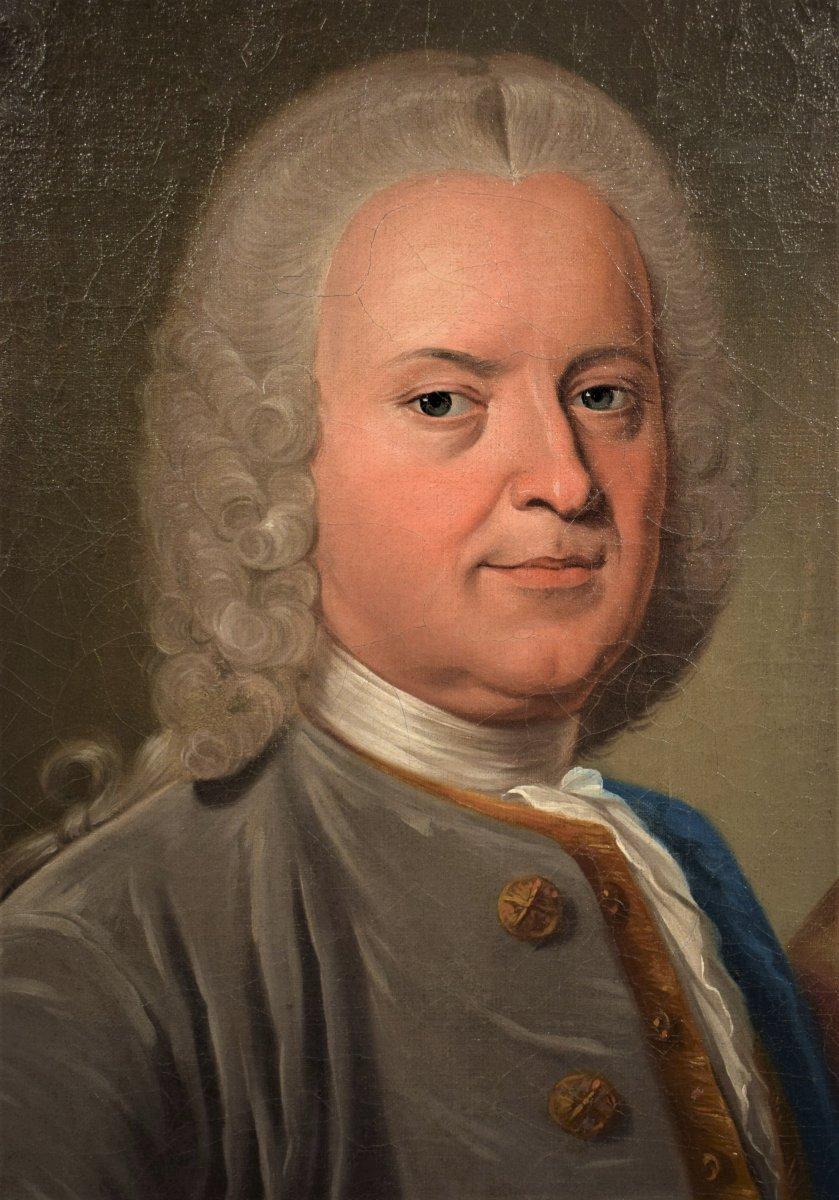 Paire De Portraits, Atelier De Nicolas De Largillière Vers 1730-photo-4
