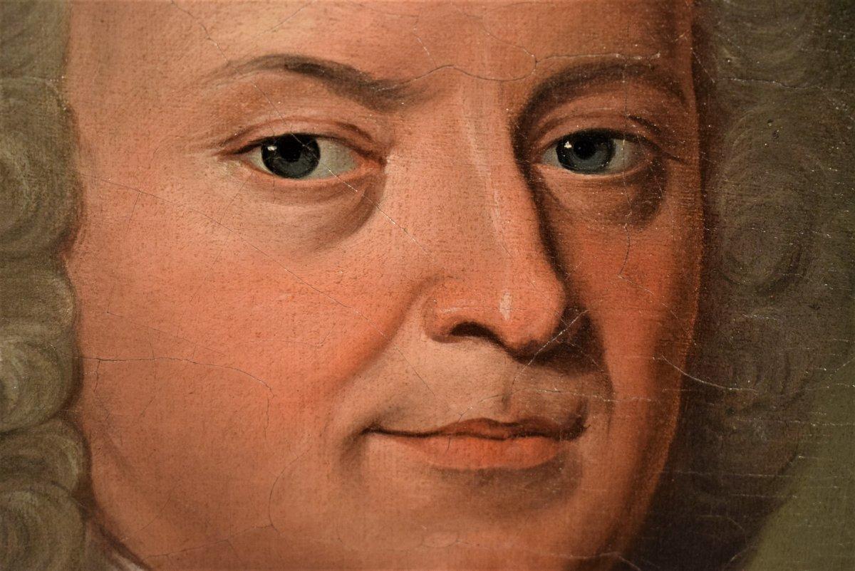 Paire De Portraits, Atelier De Nicolas De Largillière Vers 1730-photo-1