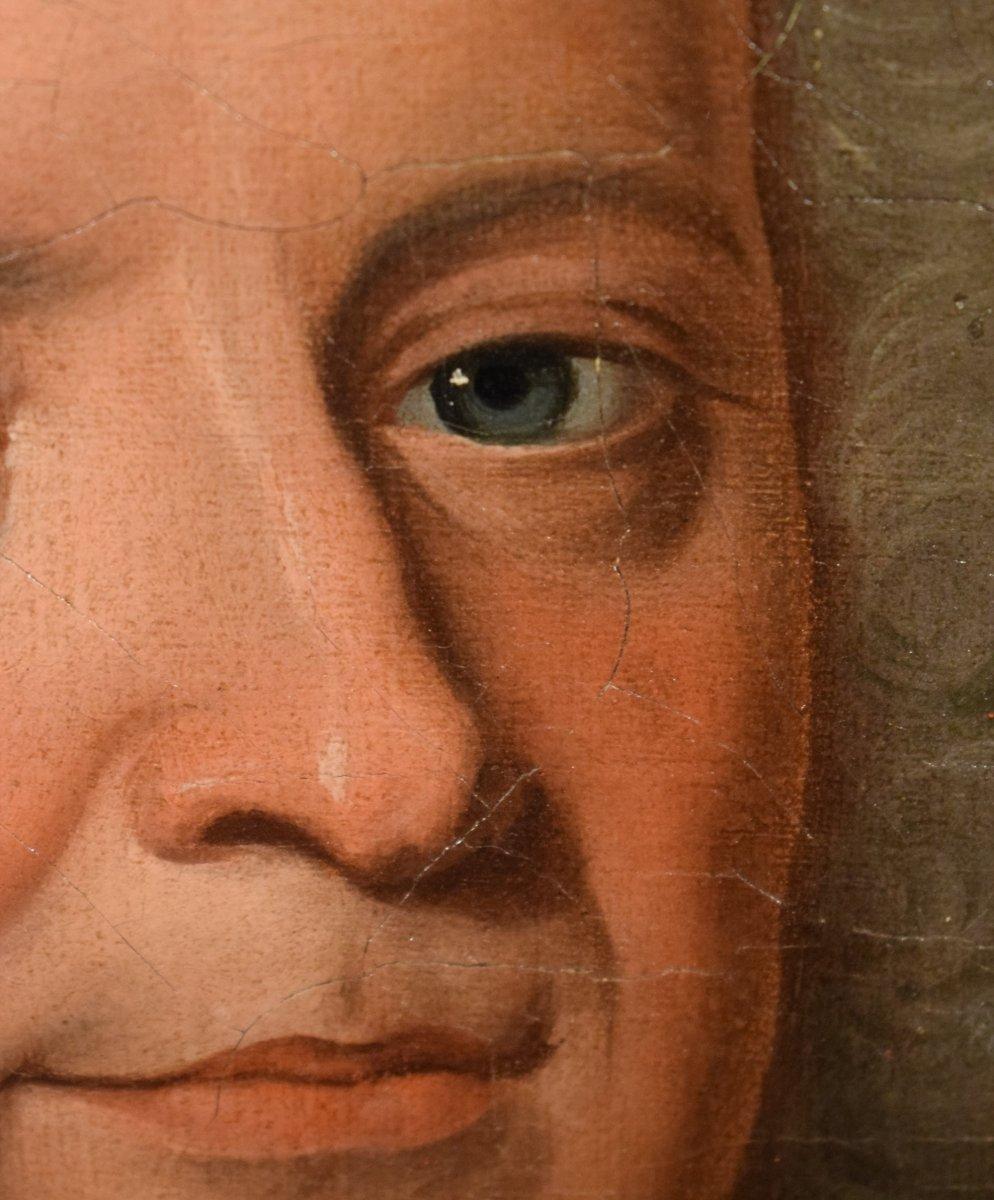 Paire De Portraits, Atelier De Nicolas De Largillière Vers 1730-photo-2
