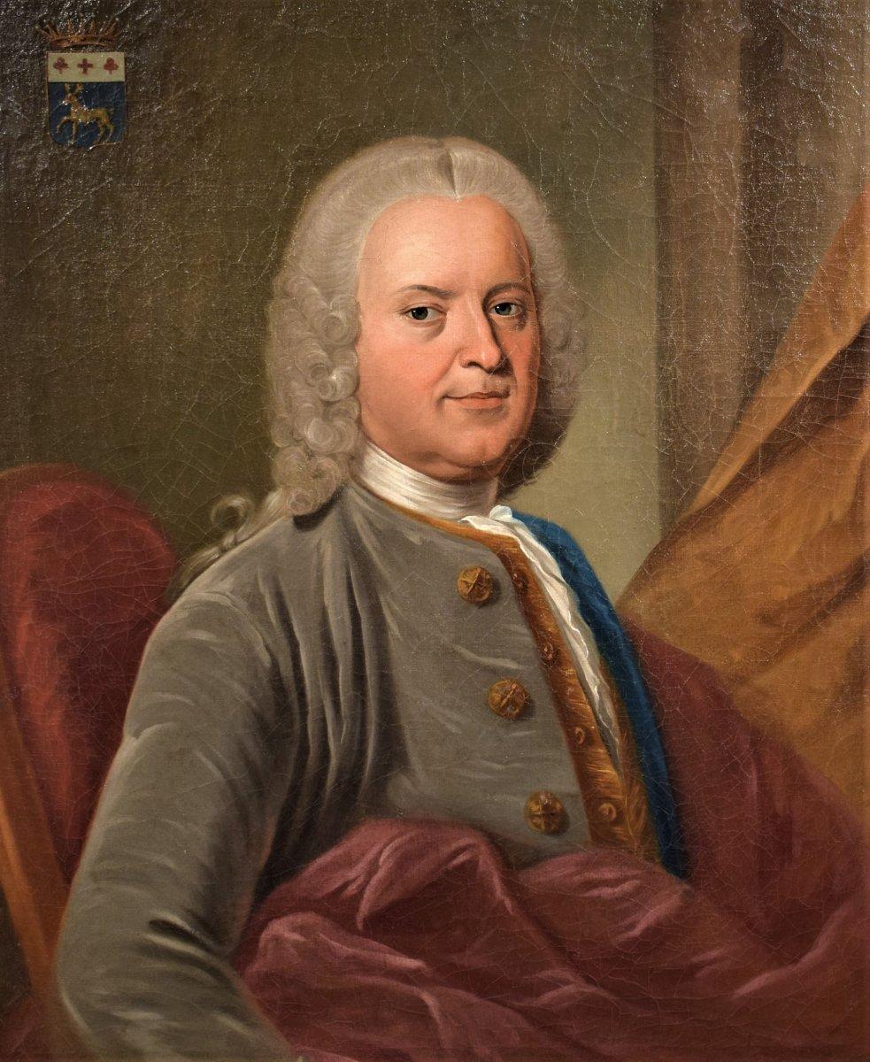 Paire De Portraits, Atelier De Nicolas De Largillière Vers 1730