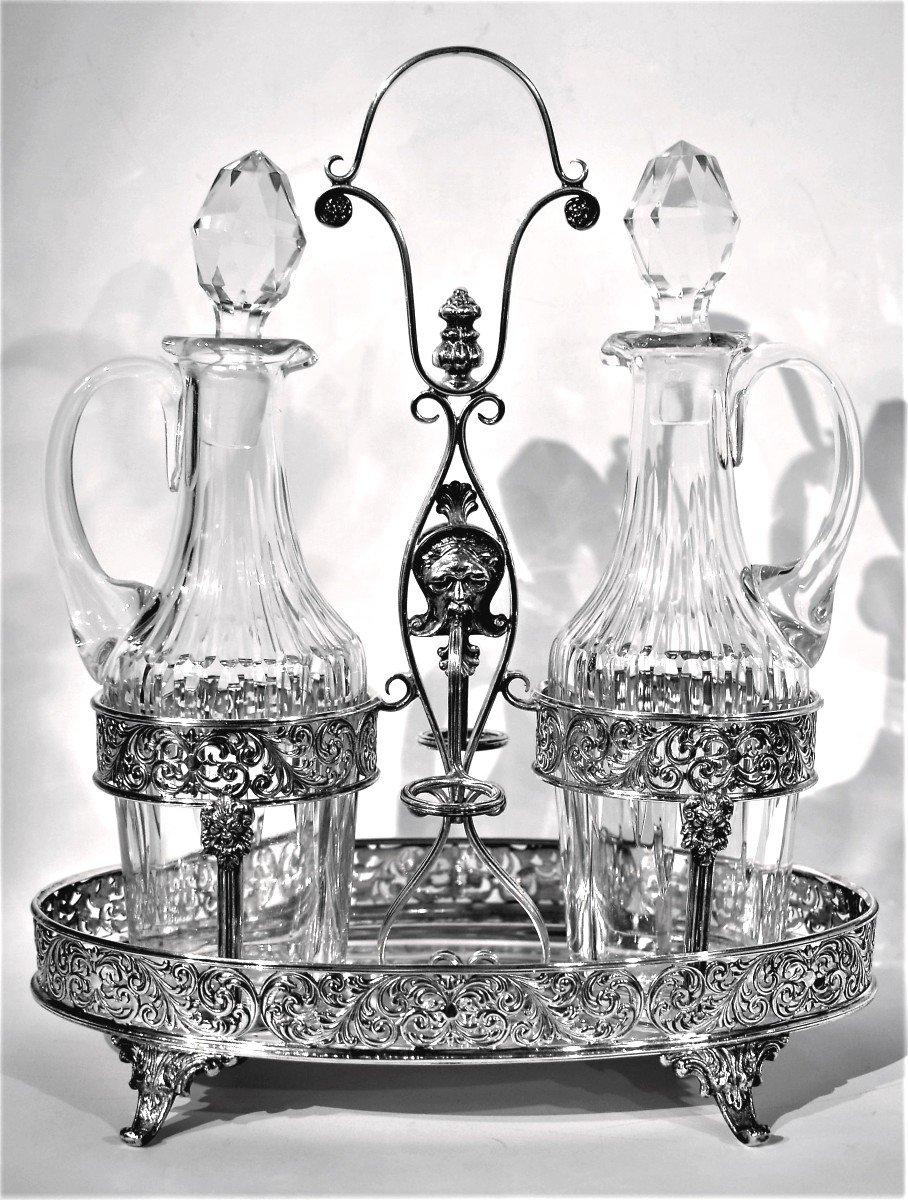 Oil Cruet Vinegar Silver 925 °°° Crystal Bottles
