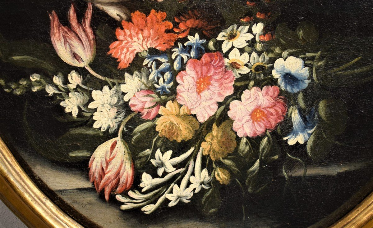 Nature Morte De Fleurs (2) Giacomo Nani - Début XVIIIème-photo-2