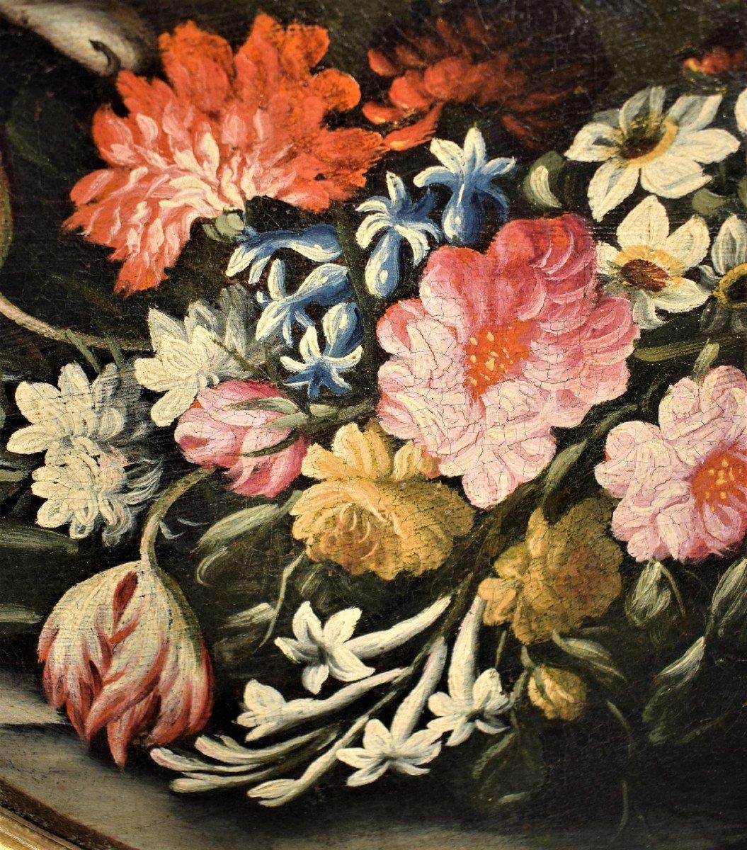 Nature Morte De Fleurs (2) Giacomo Nani - Début XVIIIème-photo-3