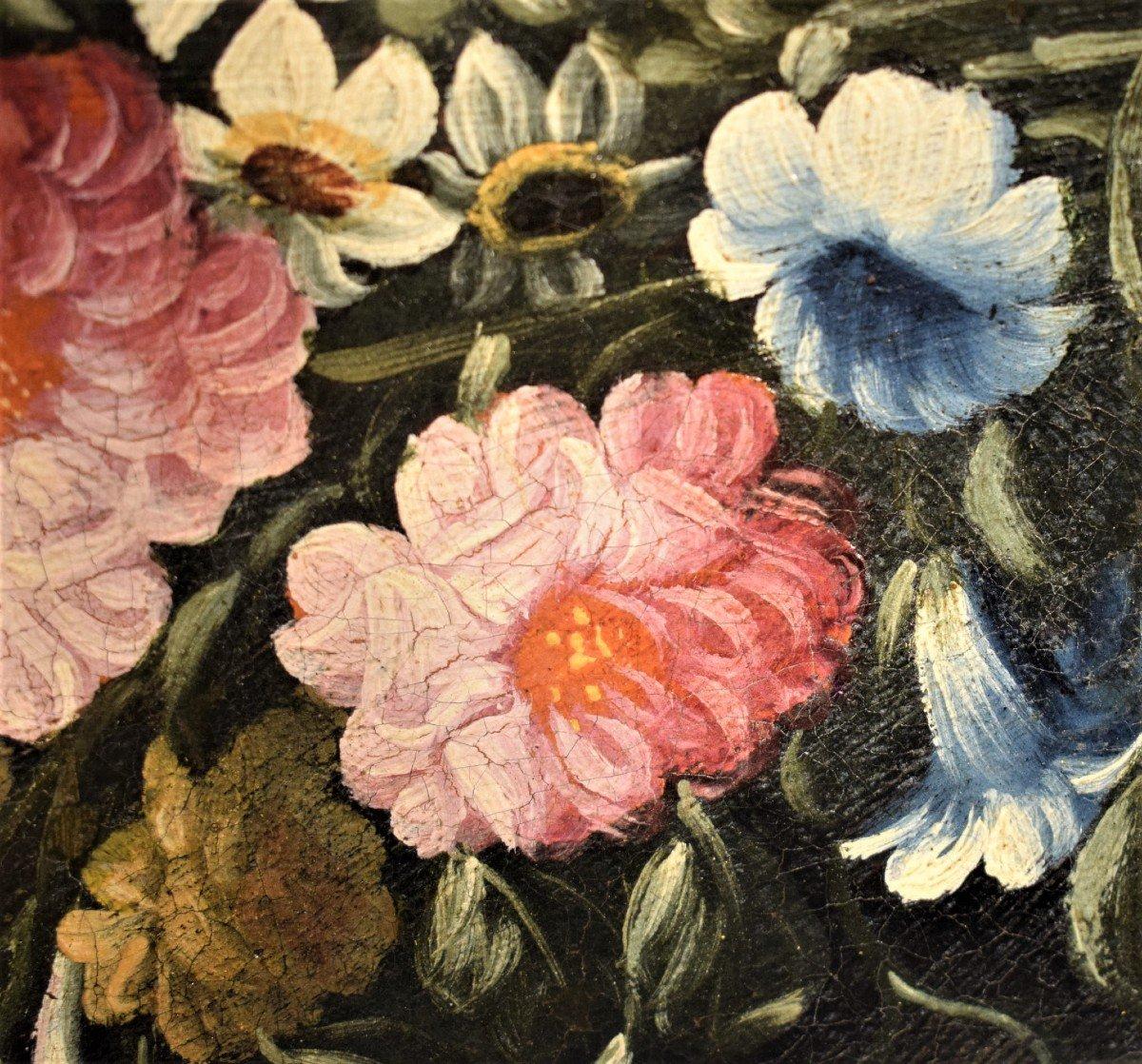 Nature Morte De Fleurs (2) Giacomo Nani - Début XVIIIème-photo-4