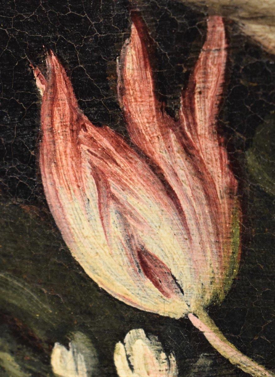 Nature Morte De Fleurs (2) Giacomo Nani - Début XVIIIème-photo-5