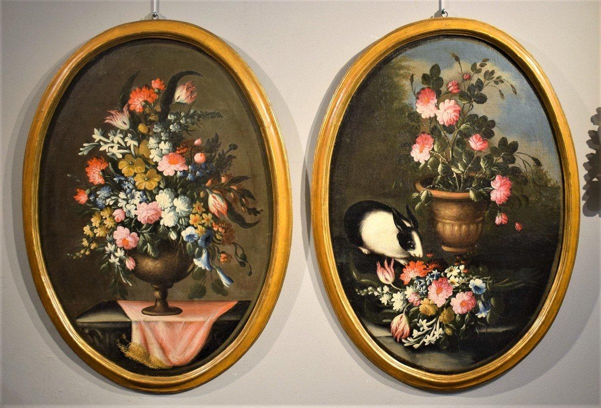 Nature Morte De Fleurs (2) Giacomo Nani - Début XVIIIème-photo-7