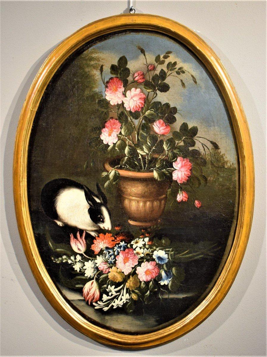 Nature Morte De Fleurs (2) Giacomo Nani - Début XVIIIème