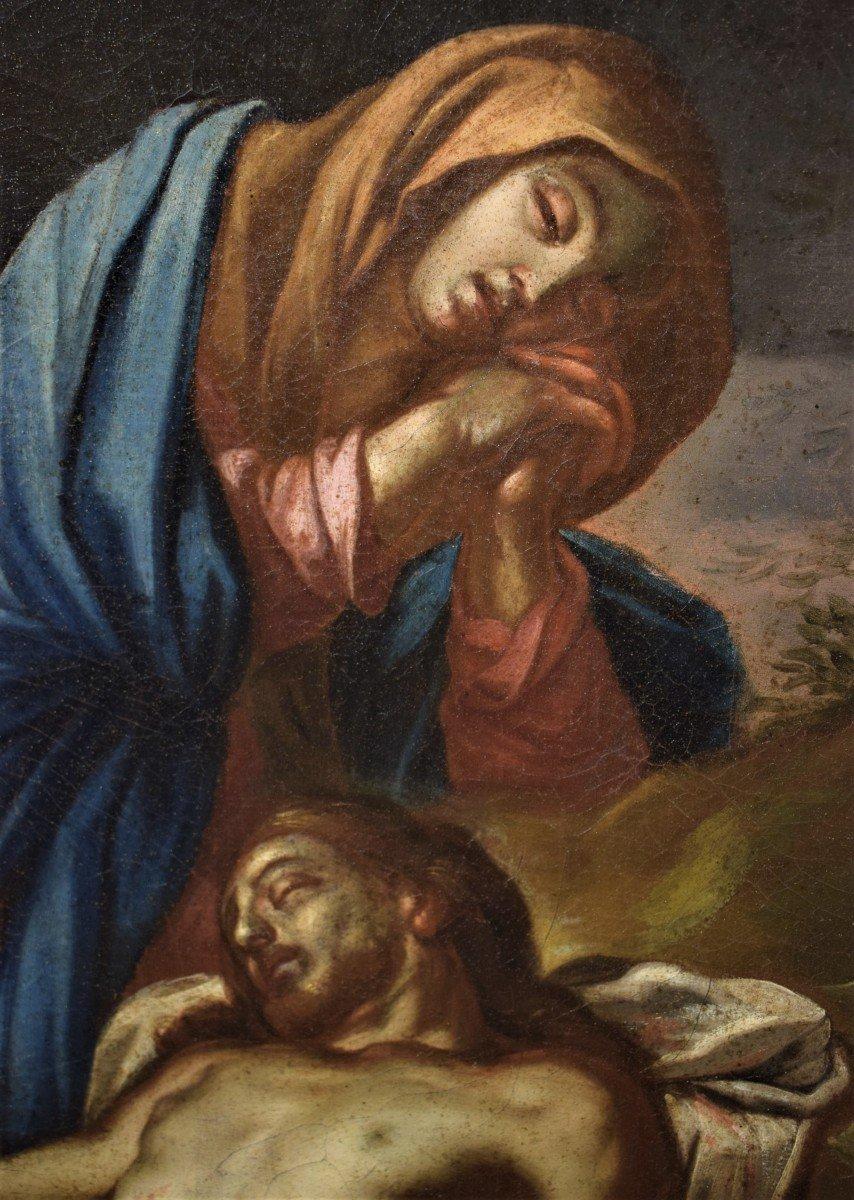Lamentation De La Vierge Avec La Madeleine Sur Le Christ - Italie XVIIème-photo-3