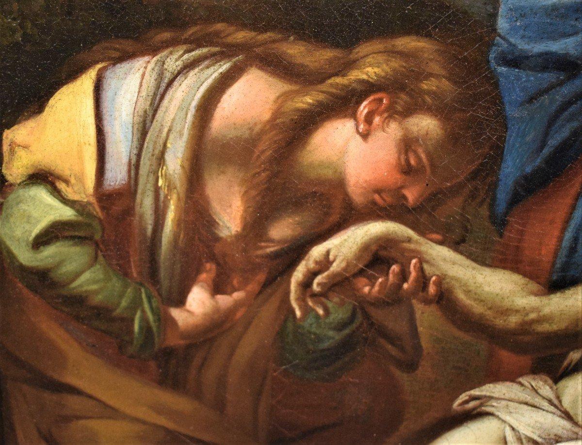 Lamentation De La Vierge Avec La Madeleine Sur Le Christ - Italie XVIIème-photo-1
