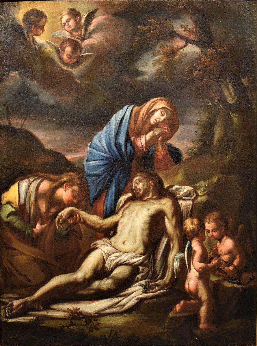 Lamentation De La Vierge Avec La Madeleine Sur Le Christ - Italie XVIIème