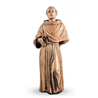 Grande Sculpture En Bois De St. François - Toscan XVIe Siècle