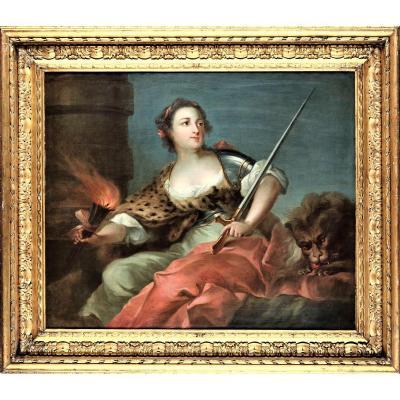 """Portrait d'une Noble  Dame """" Allégorie de la Guerre"""""""