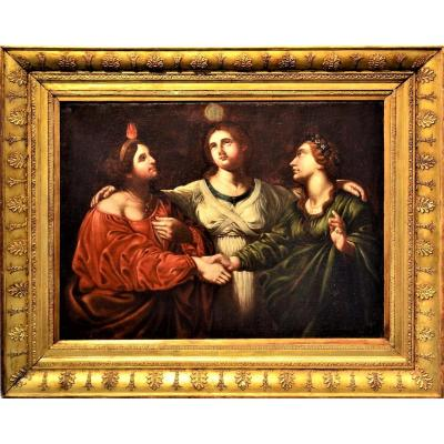 """the Three Virtues"" Tuscan School Early XVIIth Century"