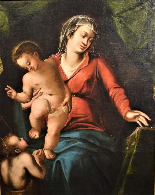 Virgin And Child And The Little Saint John The Baptist, End 16th Century-photo-2