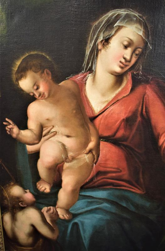 Virgin And Child And The Little Saint John The Baptist, End 16th Century-photo-3