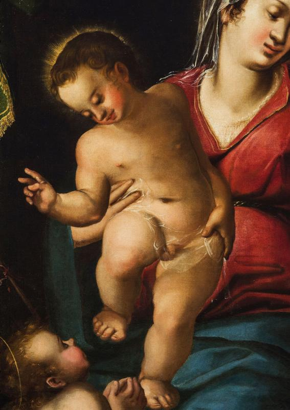 Virgin And Child And The Little Saint John The Baptist, End 16th Century-photo-4