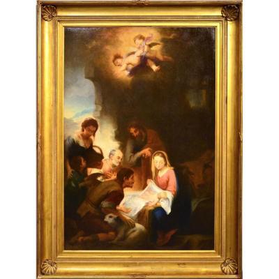 """""""L' Adoration Des Bergers""""- Entourage De Esteban Murillo"""