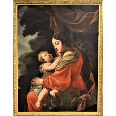 Vierge à l'Enfant école Francaise Du XVIIIéme