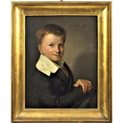 Portrait De Jeune Garçon  Daté 1826