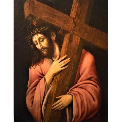 Christ portant la Croix  école Renaissance Lombard, XVIème
