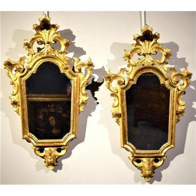 Paire De Miroirs  Louis XV  Vénitiens  XVIIIème