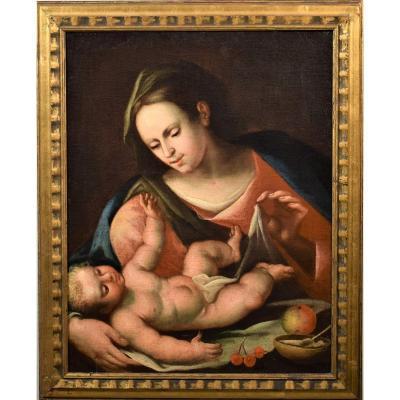 La Vierge Du Voile  école émilienne Du XVIIème