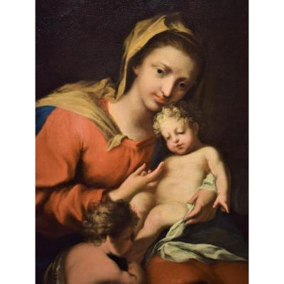 Vierge à l'Enfant Et Le Petit Saint Jean Baptiste