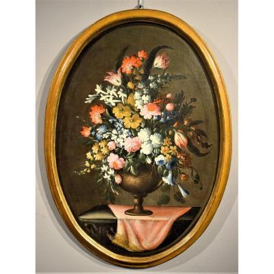 Nature Morte De Fleurs (1) - Giacomo Nani - Début XVIIIème