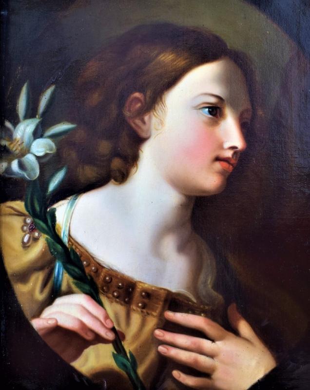 l'Ange De l'Annonciation   Elisabetta Sirani   école émillienne XVIIe-photo-2