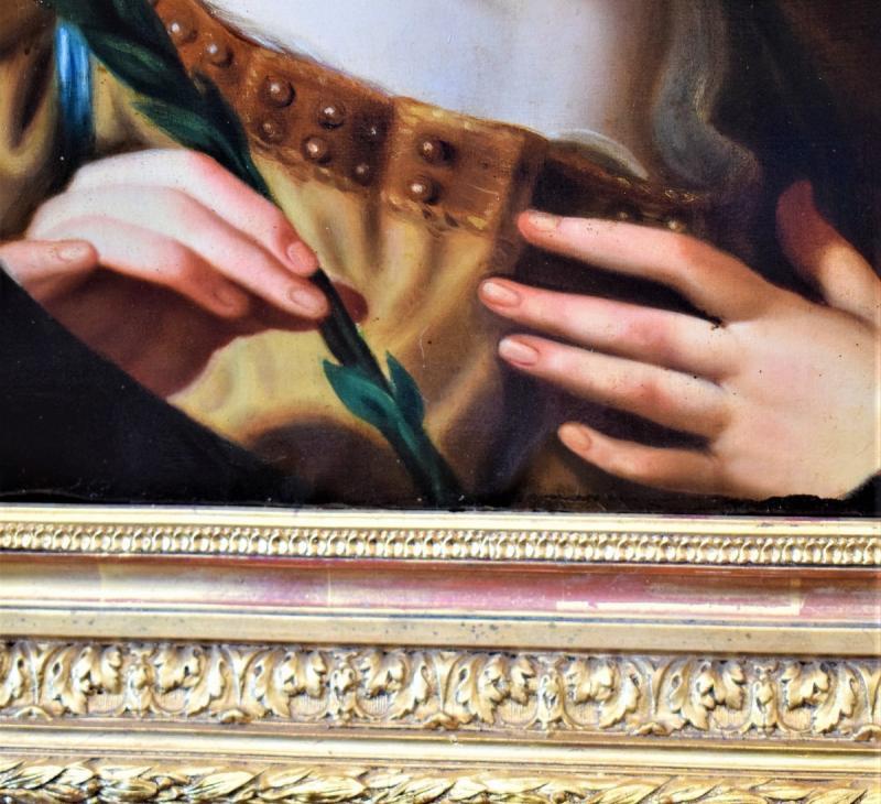 l'Ange De l'Annonciation   Elisabetta Sirani   école émillienne XVIIe-photo-4