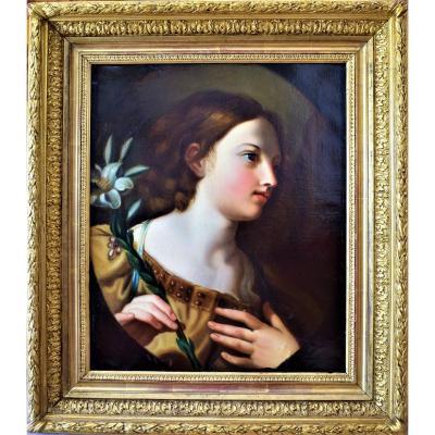 l'Ange De l'Annonciation   Elisabetta Sirani   école émillienne XVIIe