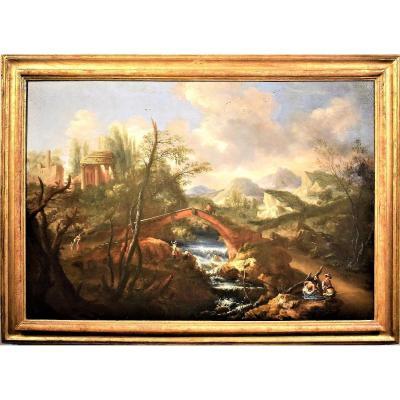 Bartolomeo Pedon (1665 - 1732)   Grand Paysage Vénitien