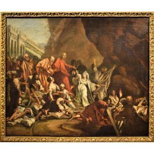 La Résurrection de Lazare école vénitienne Fin du XVIIème