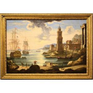 Orazio Grevenbroeck (Paris 1670-1743) Scène portuaire