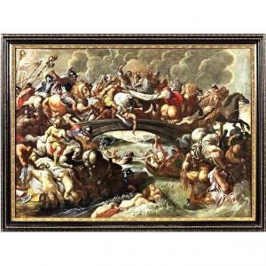 La Bataille Des Amazones  Cercle De Pieter Paul Rubens 1630 E.