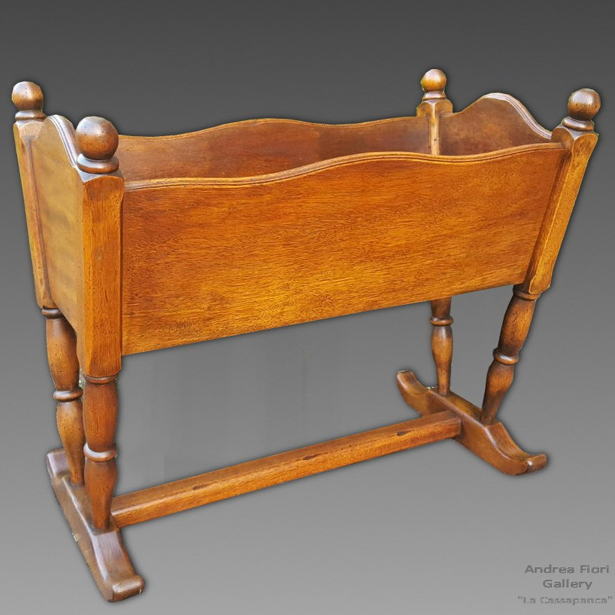 Antique Planter Cradle In Mahogany - Early 20th Century