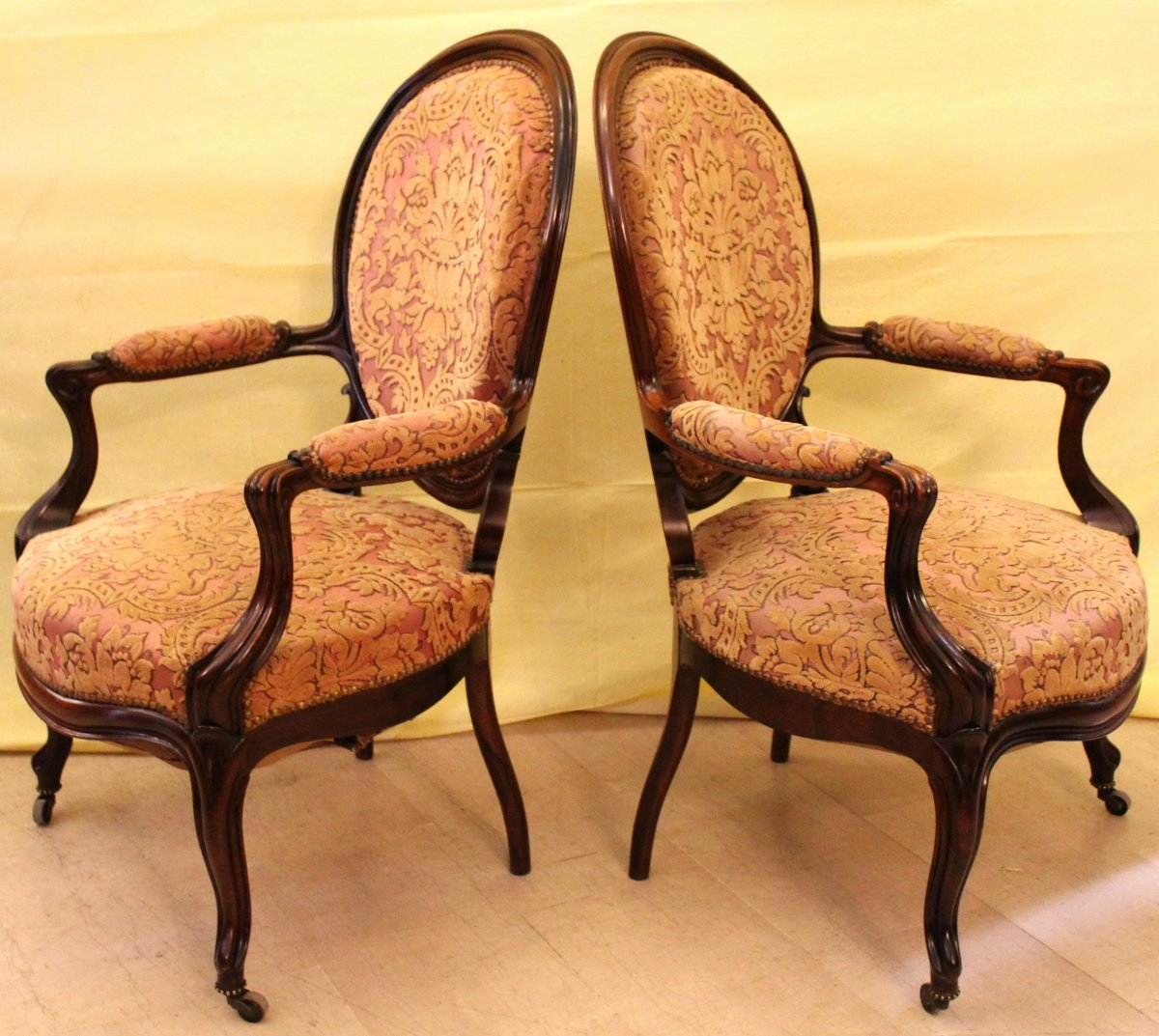 Antique Pair Of Louis Philippe Armchairs In Rosewood - 19th Century-photo-4