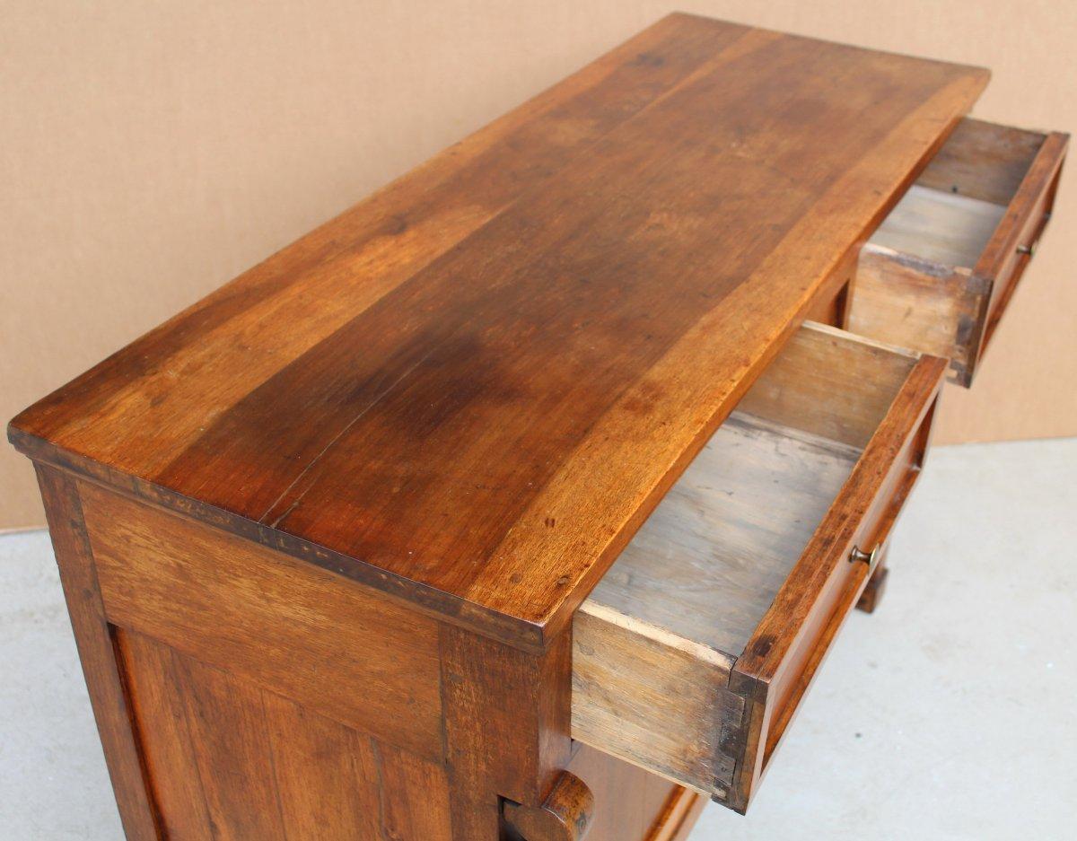 Antique Empire Sideboard Dresser Cabinet Cupboard Buffet In Walnut - Italy 19th-photo-5