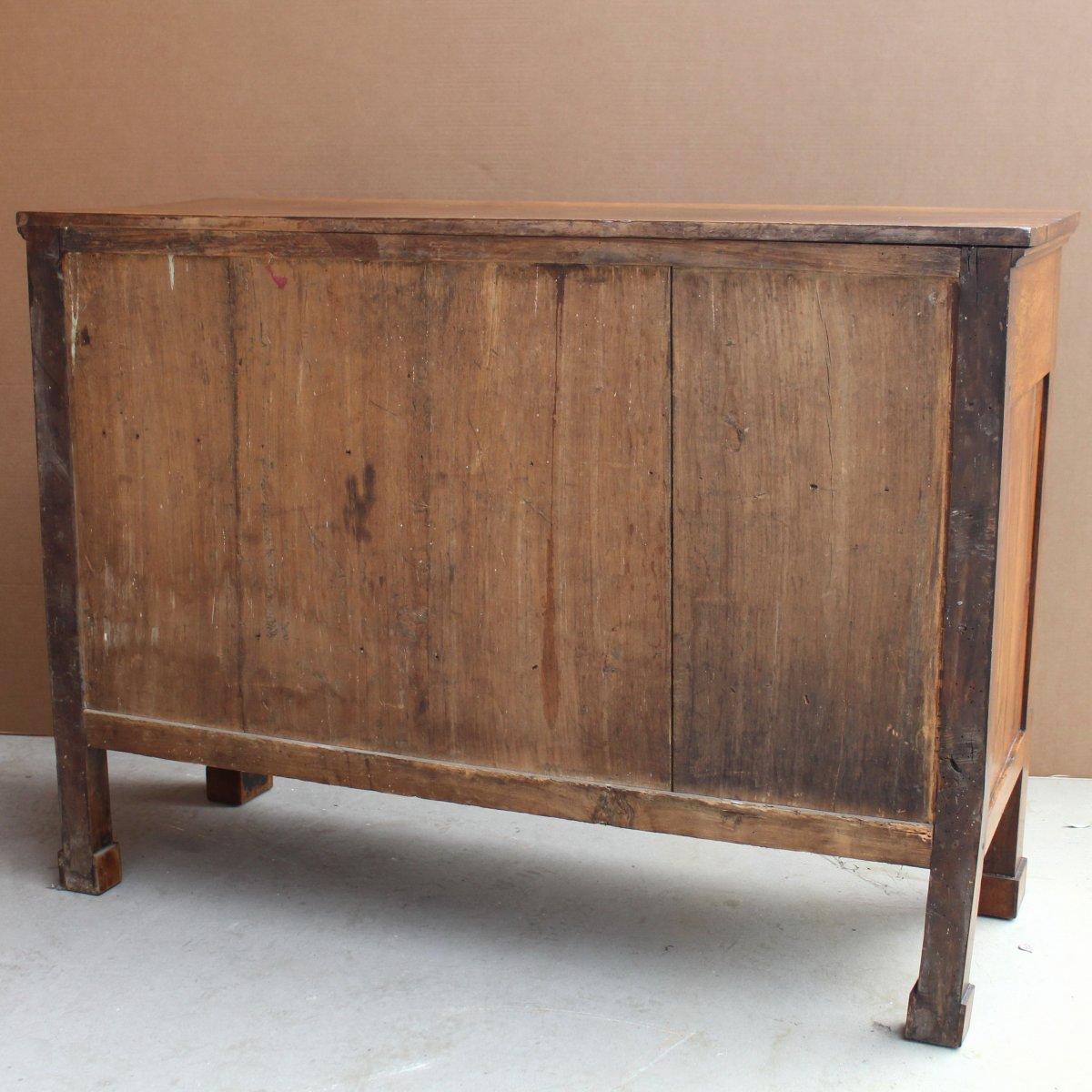 Antique Empire Sideboard Dresser Cabinet Cupboard Buffet In Walnut - Italy 19th-photo-8