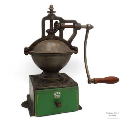 Antique Large Countertop Coffee Grinder - 19th Century - A2 Peugeot Freres