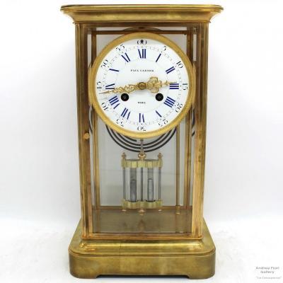 Ancien Horloge Pendule en bronze doré - du 1900 ca.