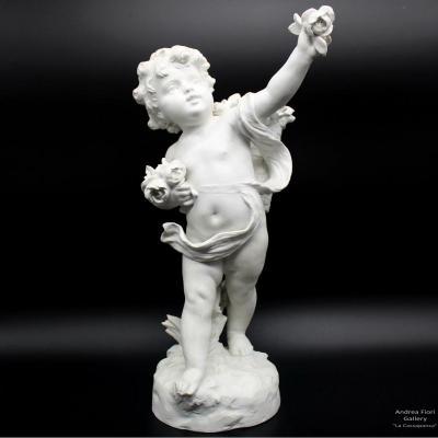 Ancien Sculpture en biscuit de porcelaine - du 19ème siècle signé Hippolyte Moreau