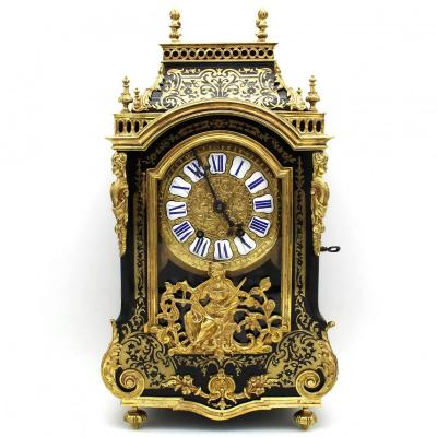 Antique Pendulum Mantel Clock Cartel Boulle - Dated 1855