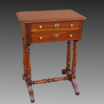 Antique Louis Philippe Small Table Chest Of Drawers In Walnut - 19th Century