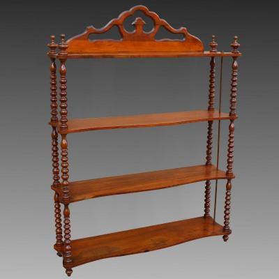 Antique Wall Shelf Etagere In Mahogany - 19th Century